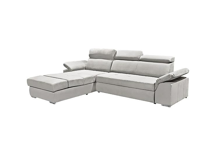 ecksofa napoli sofa relaxsofa wohnlandschaft in silber grau mit relaxfunktion ebay. Black Bedroom Furniture Sets. Home Design Ideas