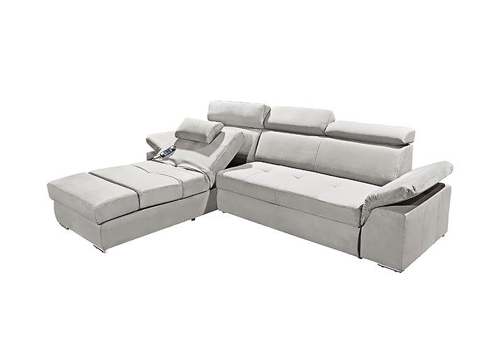 ecksofa napoli sofa relaxsofa wohnlandschaft in silber grau mit relaxfunktion eur. Black Bedroom Furniture Sets. Home Design Ideas