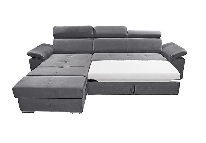 ecksofa napoli sofa relaxsofa wohnlandschaft in silber grau mit relaxfunktion ebay. Black Bedroom Furniture Sets. Home Design Ideas