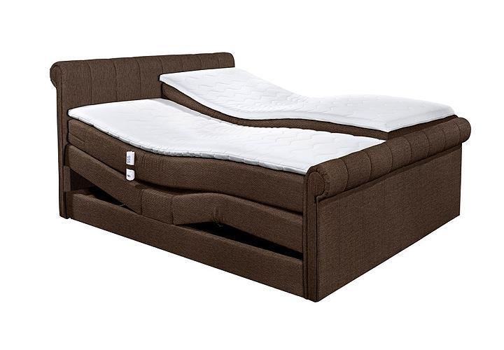 boxspringbett 4 california schlafzimmerbett bett braun topper mit motor 180x200 ebay. Black Bedroom Furniture Sets. Home Design Ideas