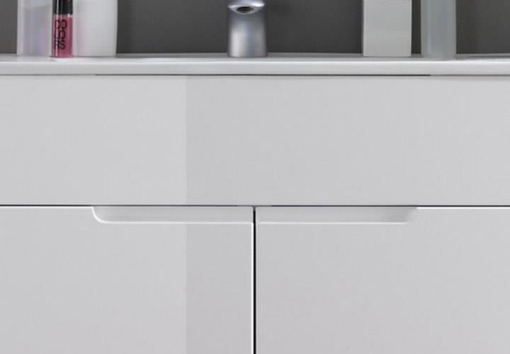 Waschtisch spice badezimmer badm bel wei hochglanz mit becken ebay - Badezimmer becken ...