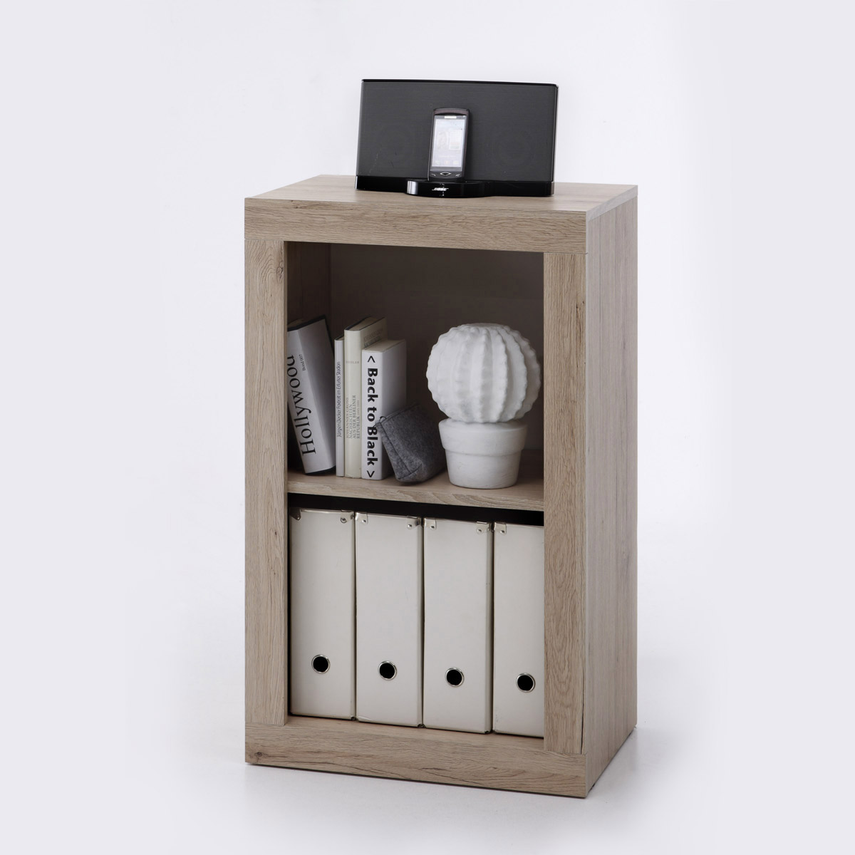 regal 1 can can regalelement stauraumelement schrank san remo eiche ebay. Black Bedroom Furniture Sets. Home Design Ideas
