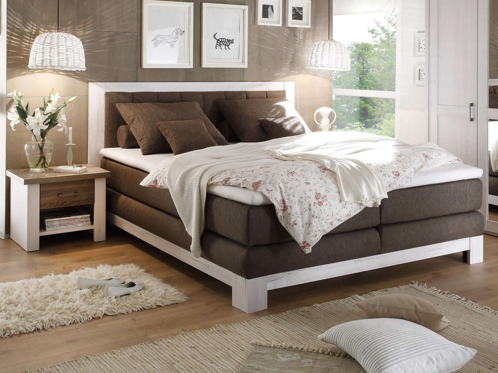 boxspringbett 7 zonen boxspringbett malibus in stoff grau 7 zonen ttk inkl topper 180x200. Black Bedroom Furniture Sets. Home Design Ideas