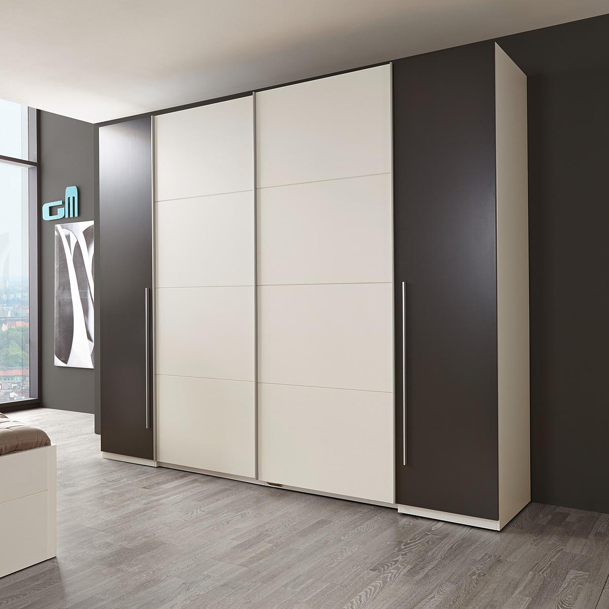 schwebet renschrank match kleiderschrank 270 cm oder 315 cm 2 bis 4 t rig ebay. Black Bedroom Furniture Sets. Home Design Ideas