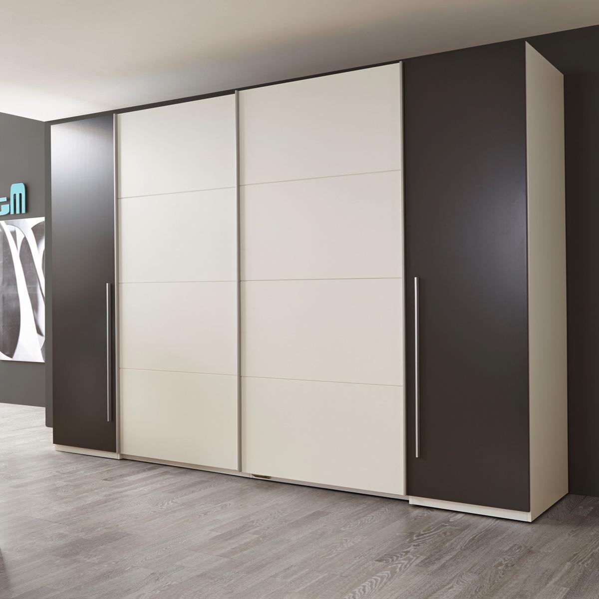 schwebet renschrank match 2 schrank kleiderschrank wei lava sonoma eiche ebay. Black Bedroom Furniture Sets. Home Design Ideas