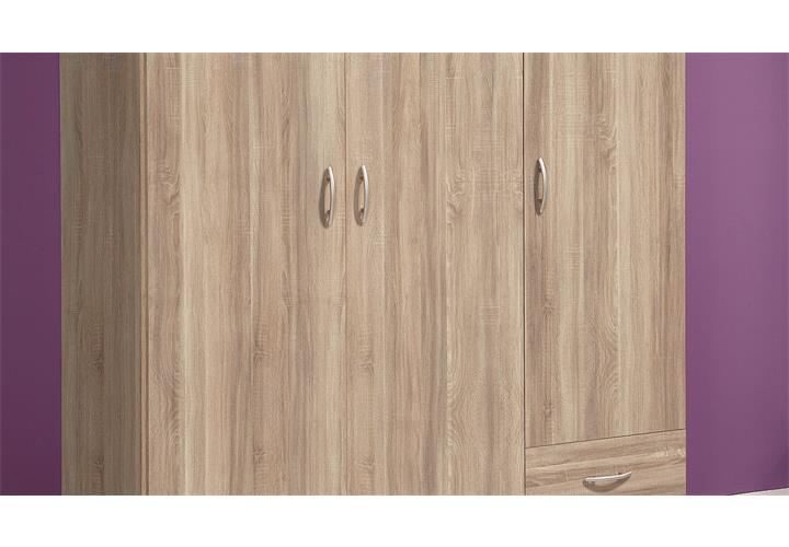 kleiderschrank base 3 schlafzimmerschrank kinderzimmerschrank sonoma eiche 120 eur 119 95. Black Bedroom Furniture Sets. Home Design Ideas