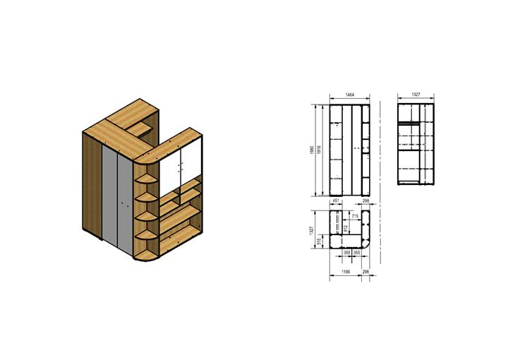 eck kleiderschrank mondo club interessante ideen f r die gestaltung eines raumes. Black Bedroom Furniture Sets. Home Design Ideas