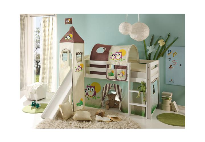 etagenbett hochbett kinderzimmer bett 90x200 kiefer natur oder wei leiter ebay. Black Bedroom Furniture Sets. Home Design Ideas