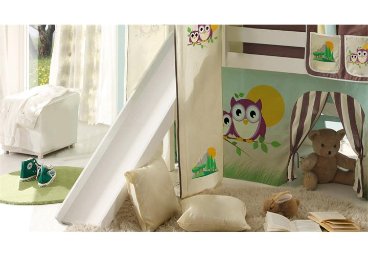 hochbett mit rutsche snoopy kinderzimmer bett 90x200 kiefer massiv wei leiter ebay. Black Bedroom Furniture Sets. Home Design Ideas