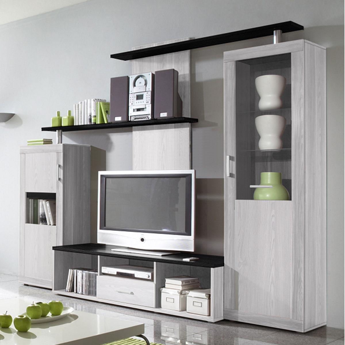 wohnwand june anbauwand vitrinen sibiu l rche und absetzungen touchwood ebay. Black Bedroom Furniture Sets. Home Design Ideas