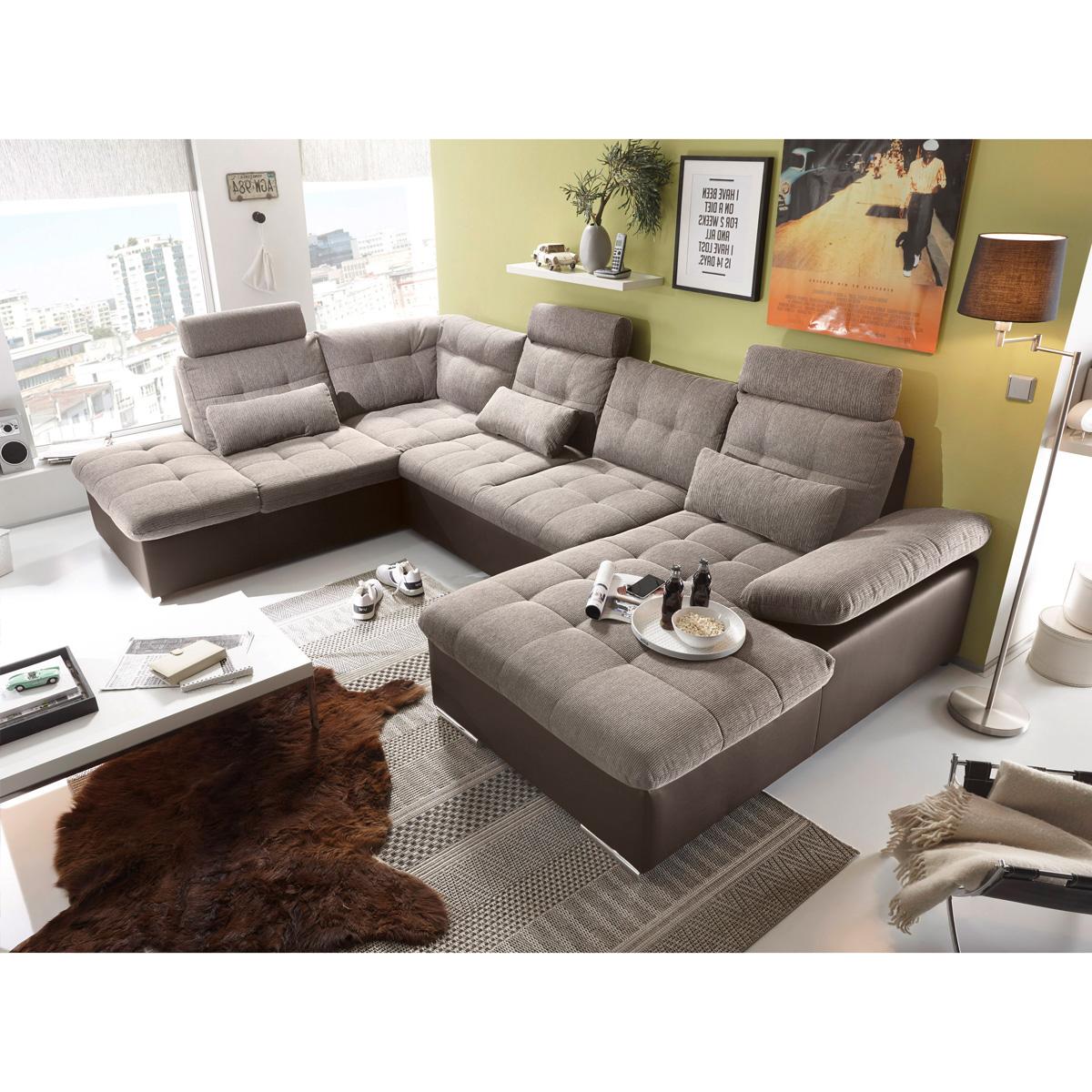 wohnlandschaft jakarta ecksofa braun schwarz grau anthrazit lawa rechts links ebay. Black Bedroom Furniture Sets. Home Design Ideas
