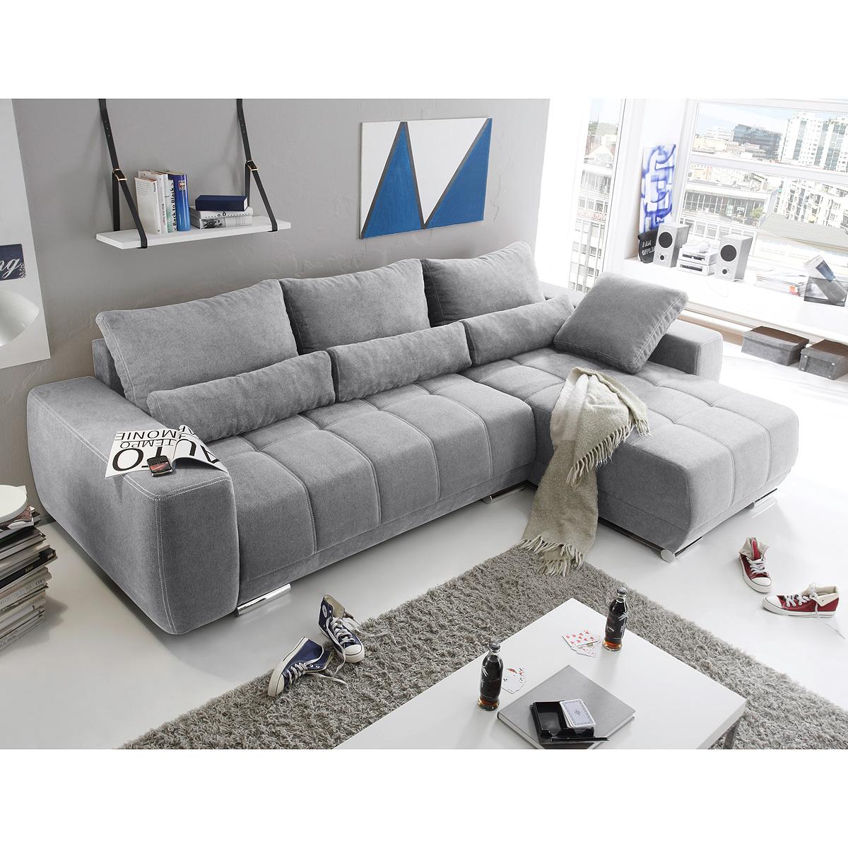ecksofa lopez sofa wohnlandschaft braun taupe anthrazit. Black Bedroom Furniture Sets. Home Design Ideas