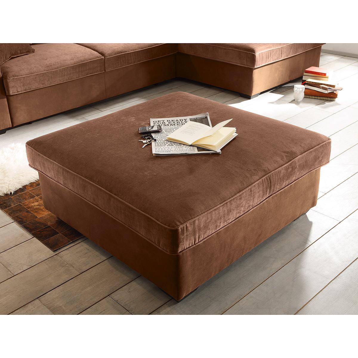hocker canyon polsterhocker ottomane fu hocker braun schwarzbraun beige auswahl ebay. Black Bedroom Furniture Sets. Home Design Ideas