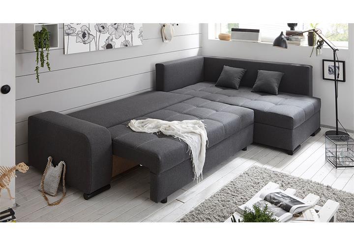 ecksofa lukas wohnlandschaft sofa polsterm bel in anthrazit mit funktion. Black Bedroom Furniture Sets. Home Design Ideas