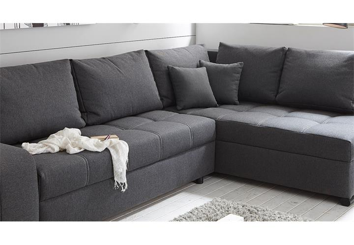 ecksofa lukas wohnlandschaft sofa polsterm bel in anthrazit mit funktion. Black Bedroom Furniture Sets. Home Design Ideas