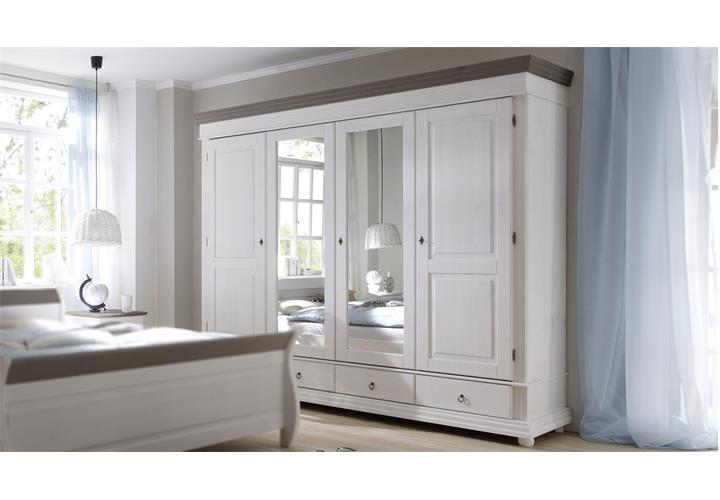 kleiderschrank oslo schlafzimmerschrank kiefer massiv wei und lava schrank ebay. Black Bedroom Furniture Sets. Home Design Ideas