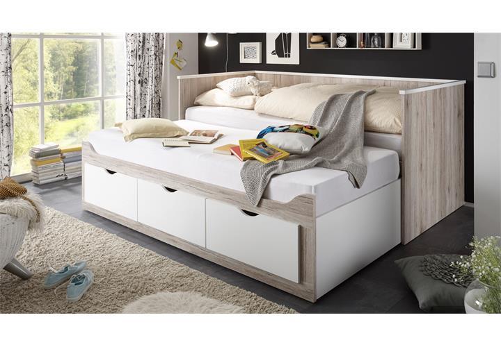 kojenbett oscar tandemliege liege bett mit rollrost in. Black Bedroom Furniture Sets. Home Design Ideas