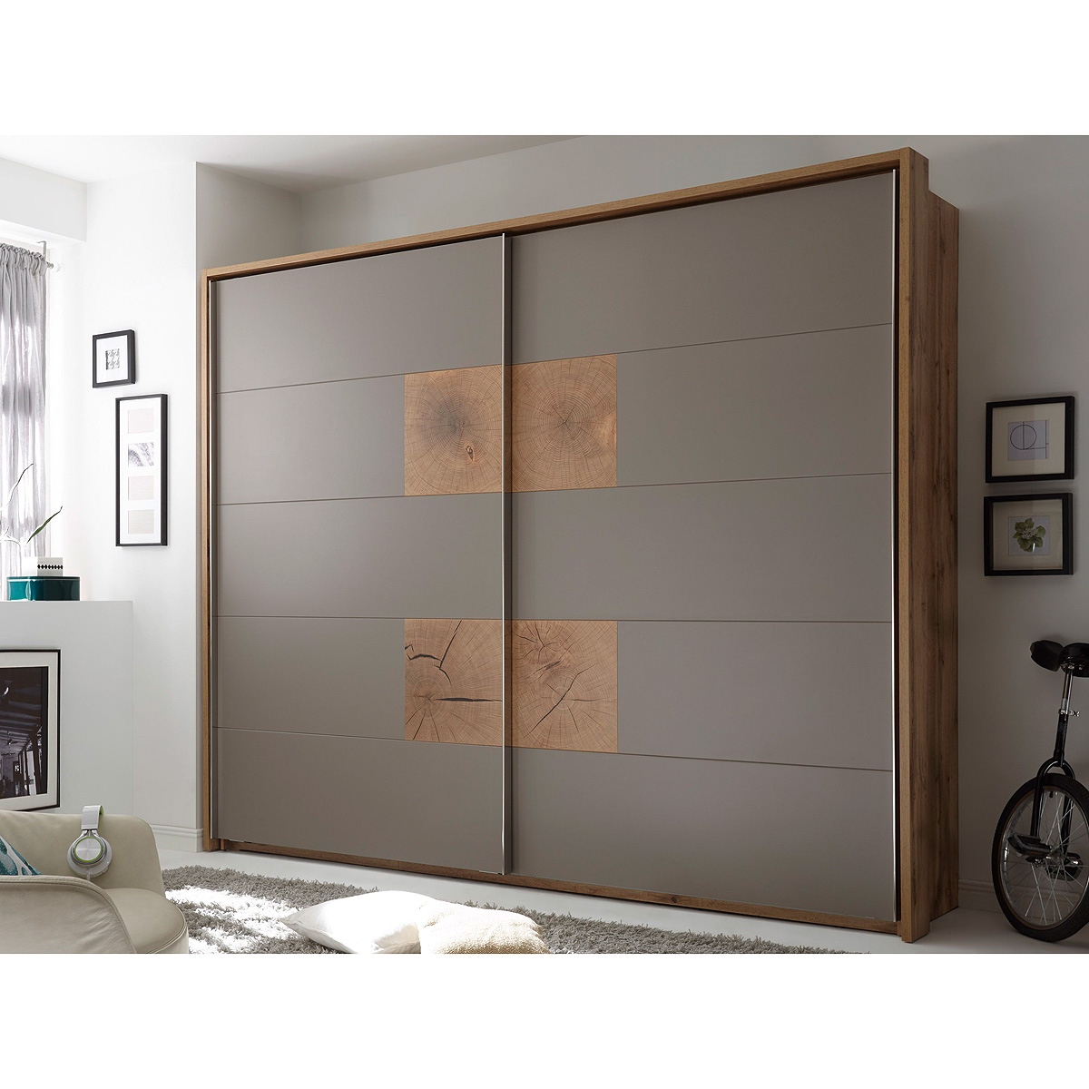 schwebet renschrank capri kleiderschrank wildeiche. Black Bedroom Furniture Sets. Home Design Ideas