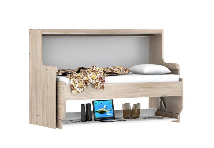 klappbett dakotas schreibtisch computertisch kinderbett bett san remo eiche wei ebay. Black Bedroom Furniture Sets. Home Design Ideas