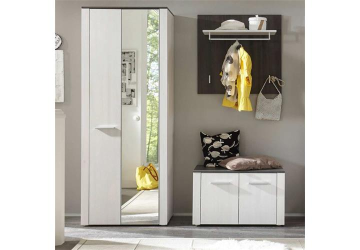 garderobe dakar set 3 teilig in sibiu l rche touchwood dielenschrank flurm bel ebay. Black Bedroom Furniture Sets. Home Design Ideas
