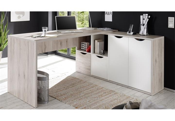 schreibtisch sandeiche interessante ideen. Black Bedroom Furniture Sets. Home Design Ideas