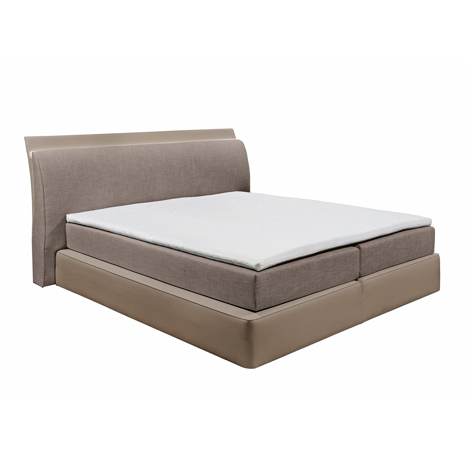 boxspringbett ventura 2 7 zonen mit topper und beleuchtung farbauswahl 180x200 ebay. Black Bedroom Furniture Sets. Home Design Ideas