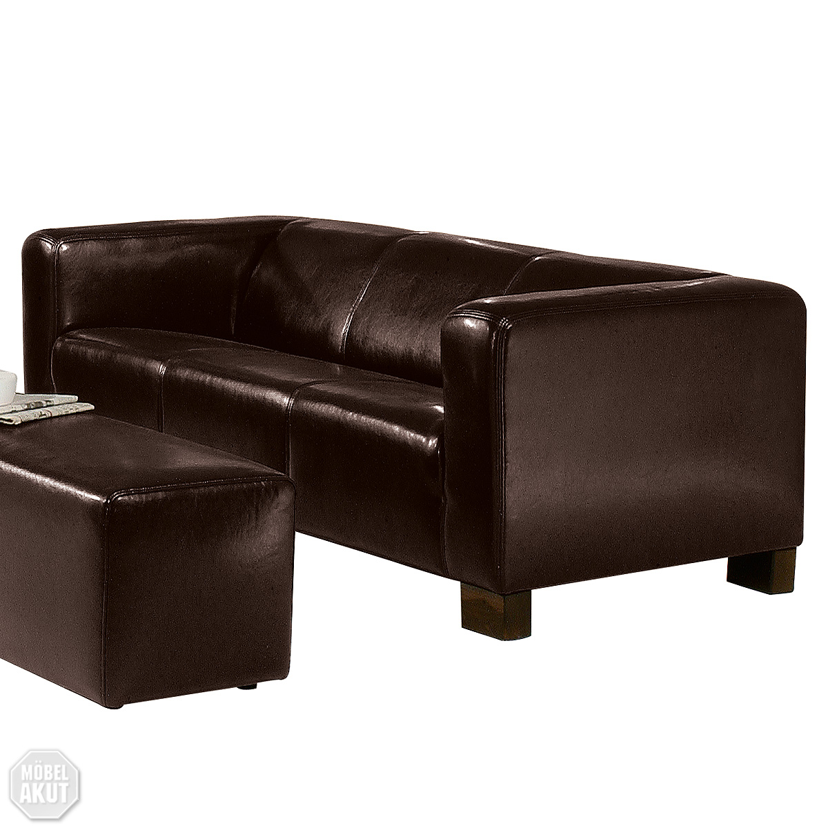 3er sofa vector leder farbe braun neu ovp ebay. Black Bedroom Furniture Sets. Home Design Ideas