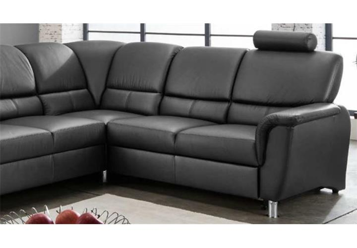 ecksofa pisa in schwarz echtleder wohnlandschaft mit. Black Bedroom Furniture Sets. Home Design Ideas