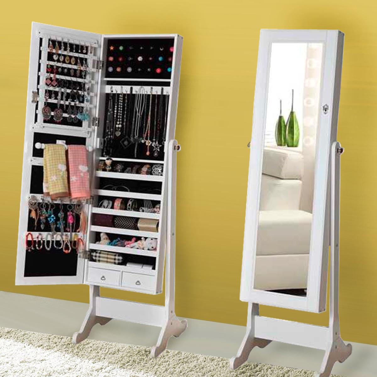 standspiegel paolo mit schmuckkasten schmuckschrank spiegelschrank wei ebay. Black Bedroom Furniture Sets. Home Design Ideas