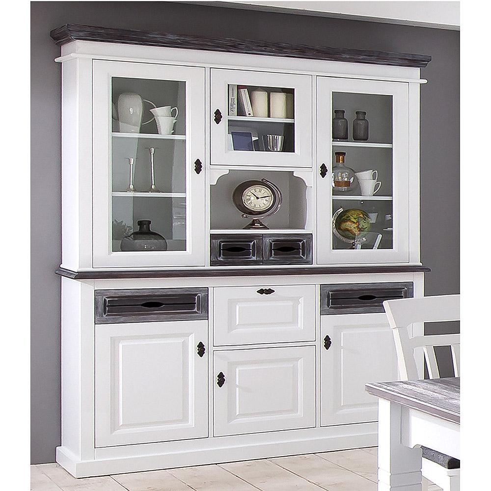 buffet cabana vitrinenschrank schrank fichte teilmassiv. Black Bedroom Furniture Sets. Home Design Ideas