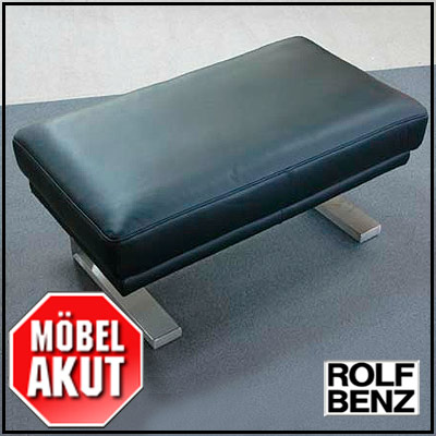 Rolf benz freischwinger hocker bank pb 6600 in leder for Rolf benz hocker