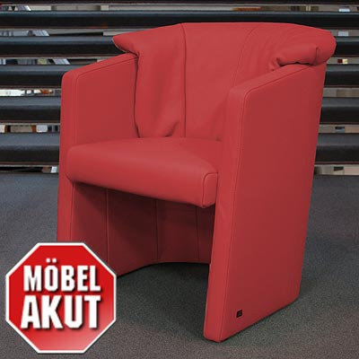 original rolf benz cocktail sessel se 390 in leder rot neu ebay. Black Bedroom Furniture Sets. Home Design Ideas