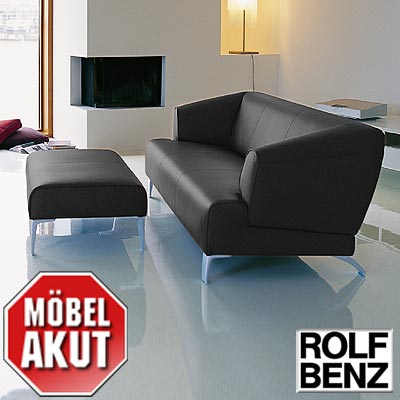 original rolf benz sofa sob 2300 in leder schwarz b. Black Bedroom Furniture Sets. Home Design Ideas