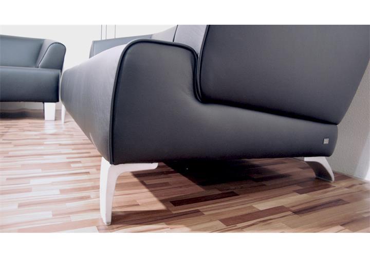 Rolf benz sofa sob 2300 echtleder schwarz 2 sitzer - Rolf benz big sofa ...