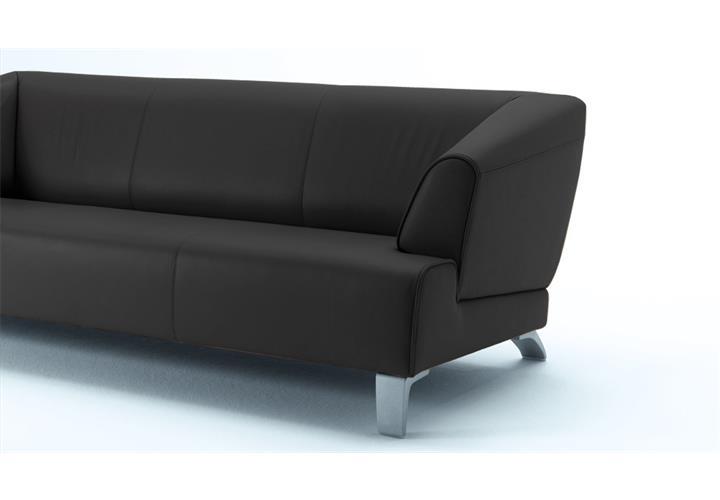Rolf benz sofa sob 2300 echtleder schwarz 2 sitzer for Rolf benz big sofa