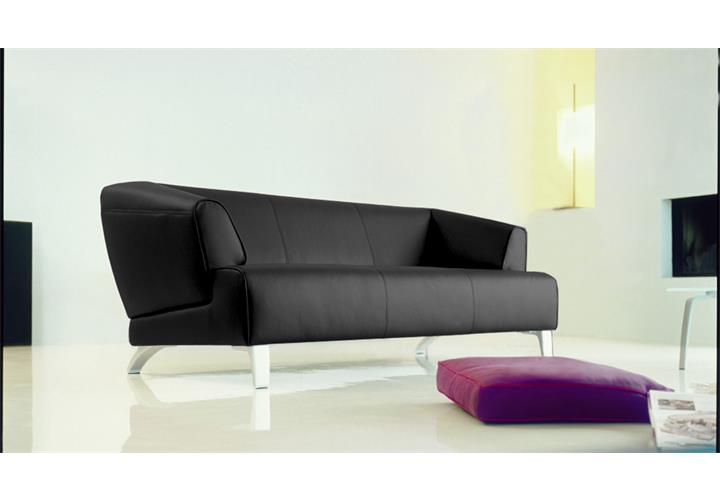 rolf benz sofa sob 2300 echtleder schwarz 3 sitzer sofabank 195 cm breit ebay. Black Bedroom Furniture Sets. Home Design Ideas