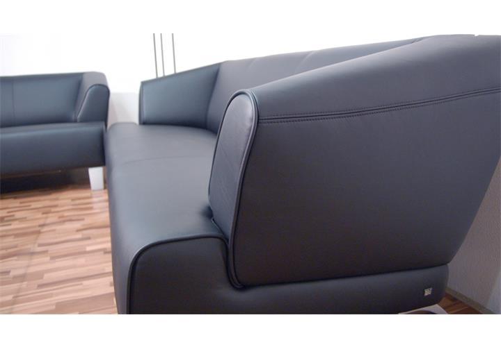 rolf benz sofa sob 2300 echtleder schwarz 3 sitzer sofabank 195 cm breit ebay. Black Bedroom Furniture Sets. Home Design Ideas