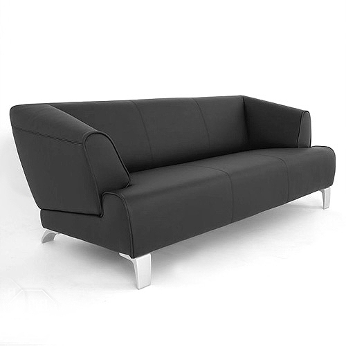 rolf benz sofa sob 2300 echtleder schwarz 3 sitzer sofabank 195 cm breit eur. Black Bedroom Furniture Sets. Home Design Ideas