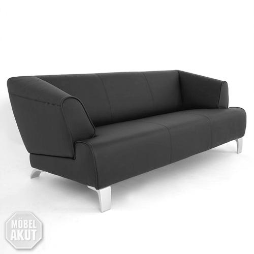 original rolf benz 3er sofa sob 2300 in leder schwarz. Black Bedroom Furniture Sets. Home Design Ideas
