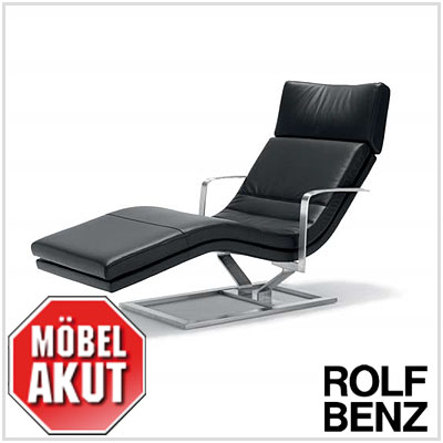 original rolf benz relax liege 568 in leder schwarz neu ebay. Black Bedroom Furniture Sets. Home Design Ideas