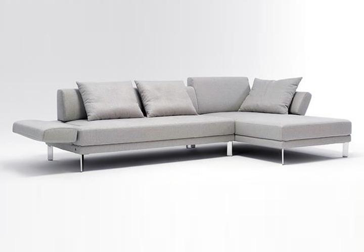 ecksofa sento 433 rolf benz sofa mit recamiere rechts stoff hellgrau ebay. Black Bedroom Furniture Sets. Home Design Ideas