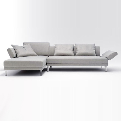 ecksofa links sento 433 rolf benz sofa funktionssofa stoff hellgrau ebay. Black Bedroom Furniture Sets. Home Design Ideas