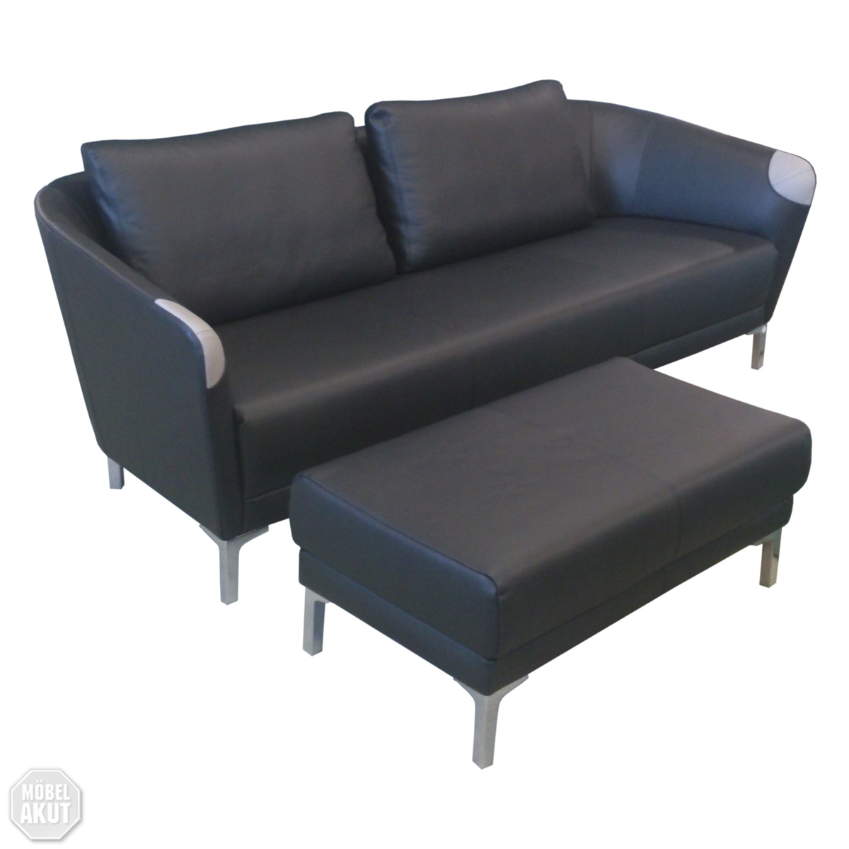 sofa bela 320 rolf benz leder schwarz sob 320 ebay. Black Bedroom Furniture Sets. Home Design Ideas