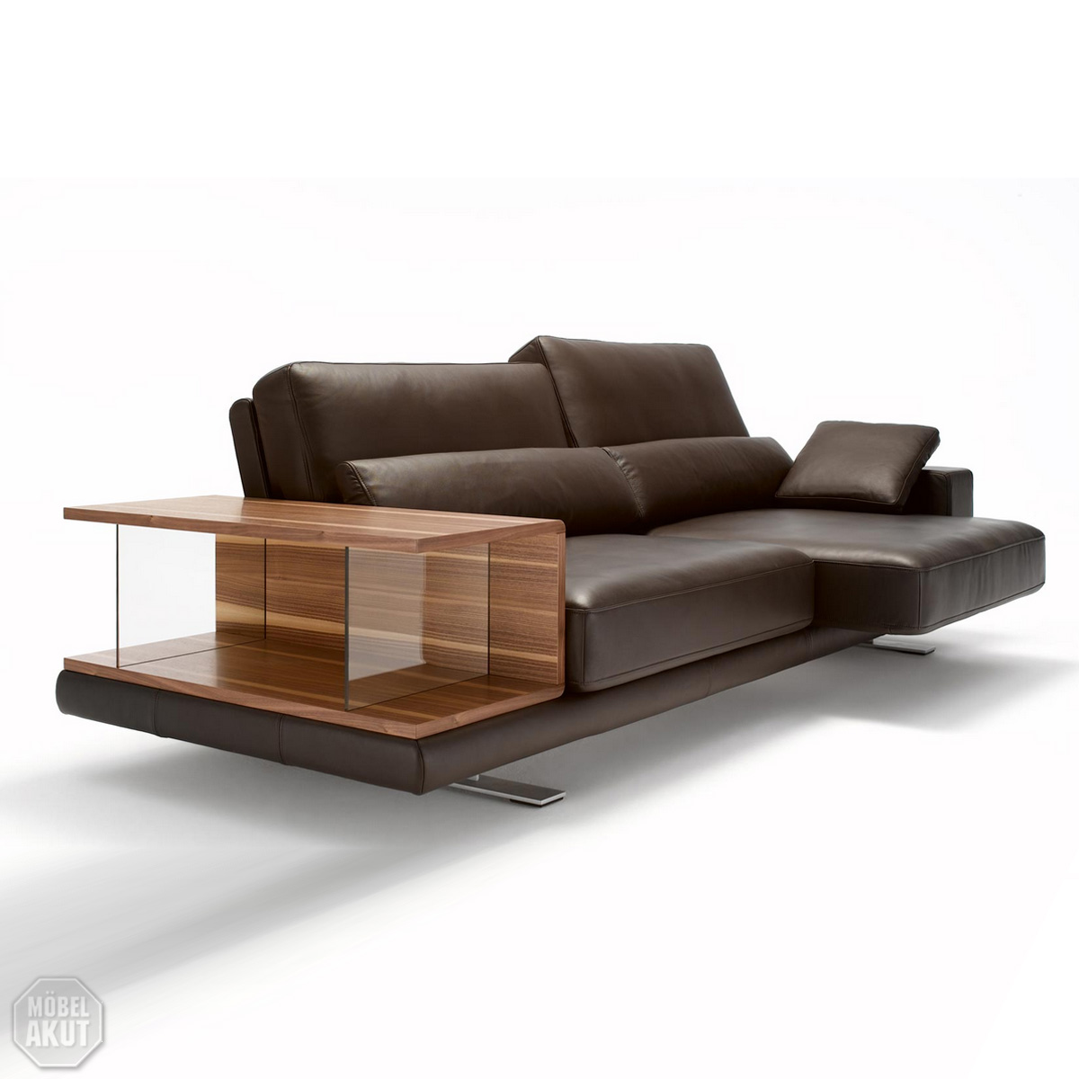 sofabank vero 556 rolf benz sofa funktionssofa leder dunkelbraun ebay. Black Bedroom Furniture Sets. Home Design Ideas