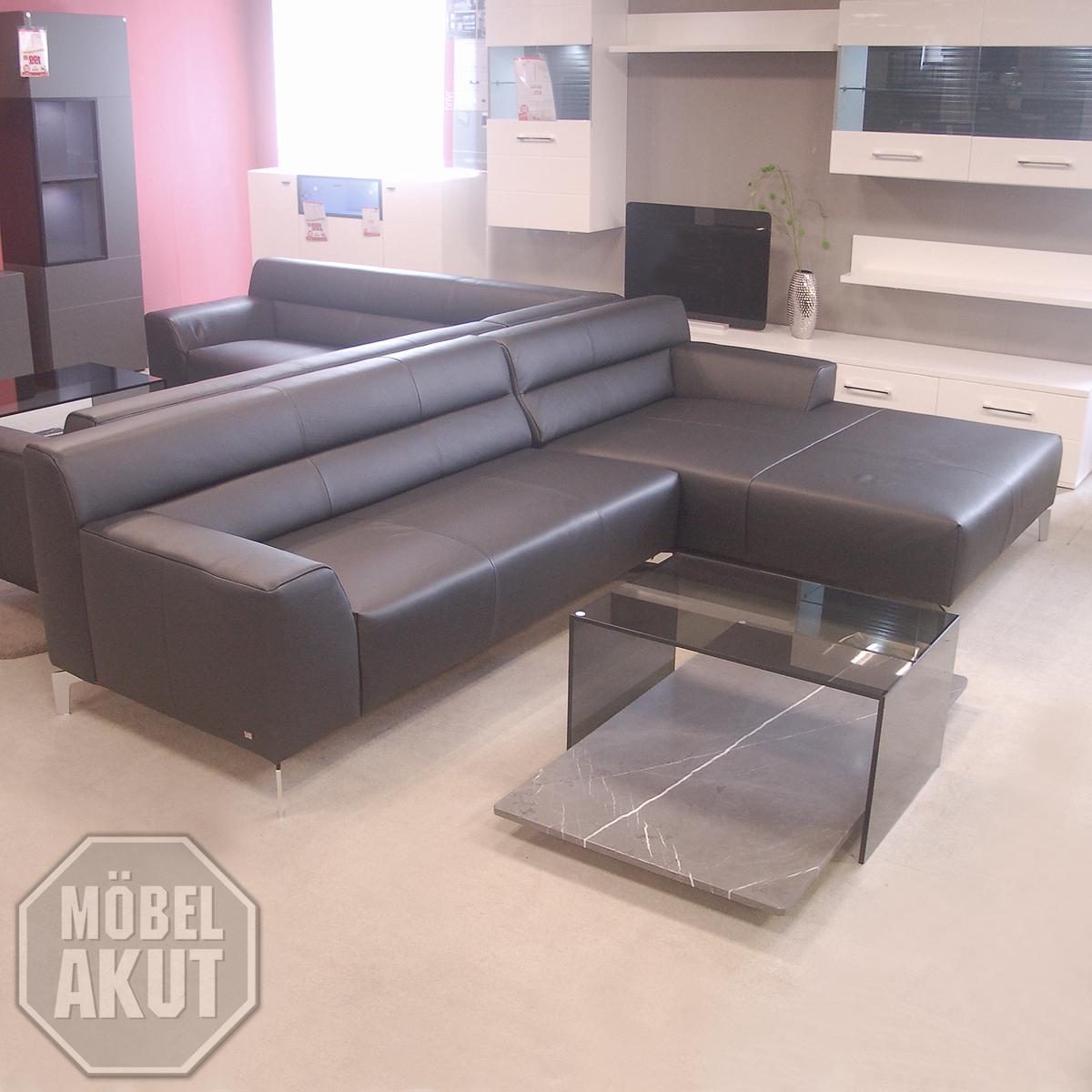 sofa rolf benz neo sob 300 mit ottomane rechts in leder. Black Bedroom Furniture Sets. Home Design Ideas