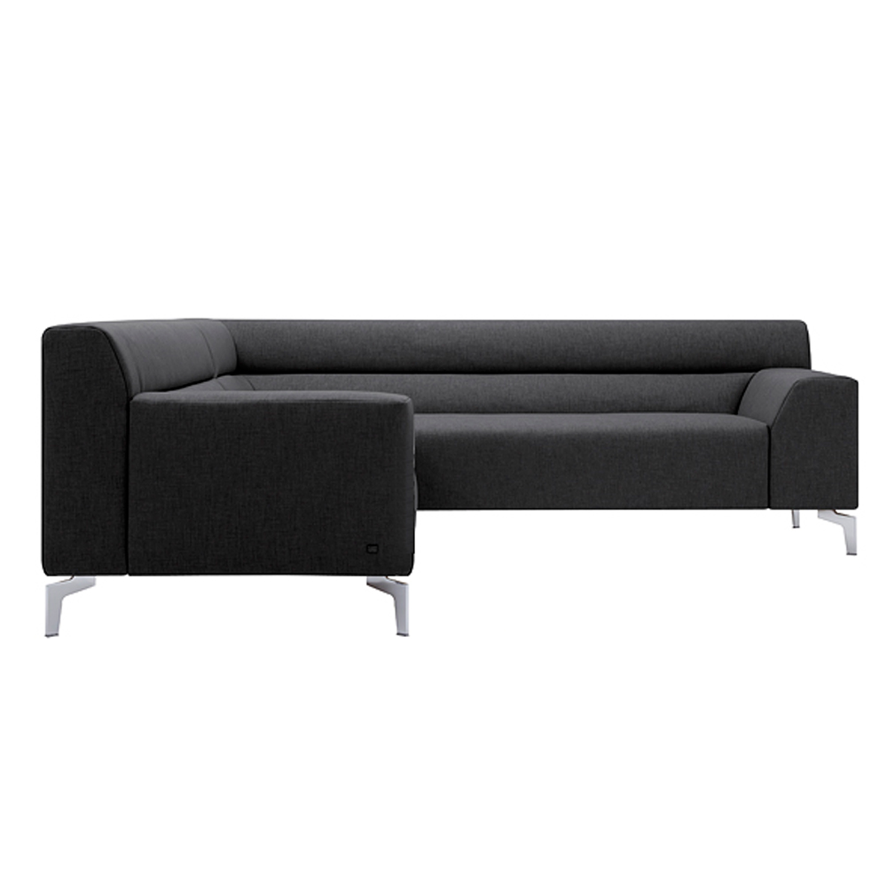 sofa rolf benz neo sob 300 ecksofa rechts in stoff dunkelgrau ebay. Black Bedroom Furniture Sets. Home Design Ideas