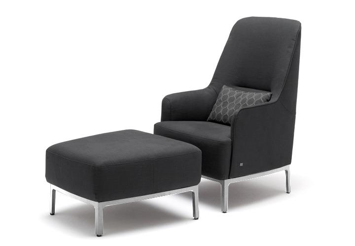 hocker f r hochlehnsessel rolf benz hse 366 sessel in. Black Bedroom Furniture Sets. Home Design Ideas