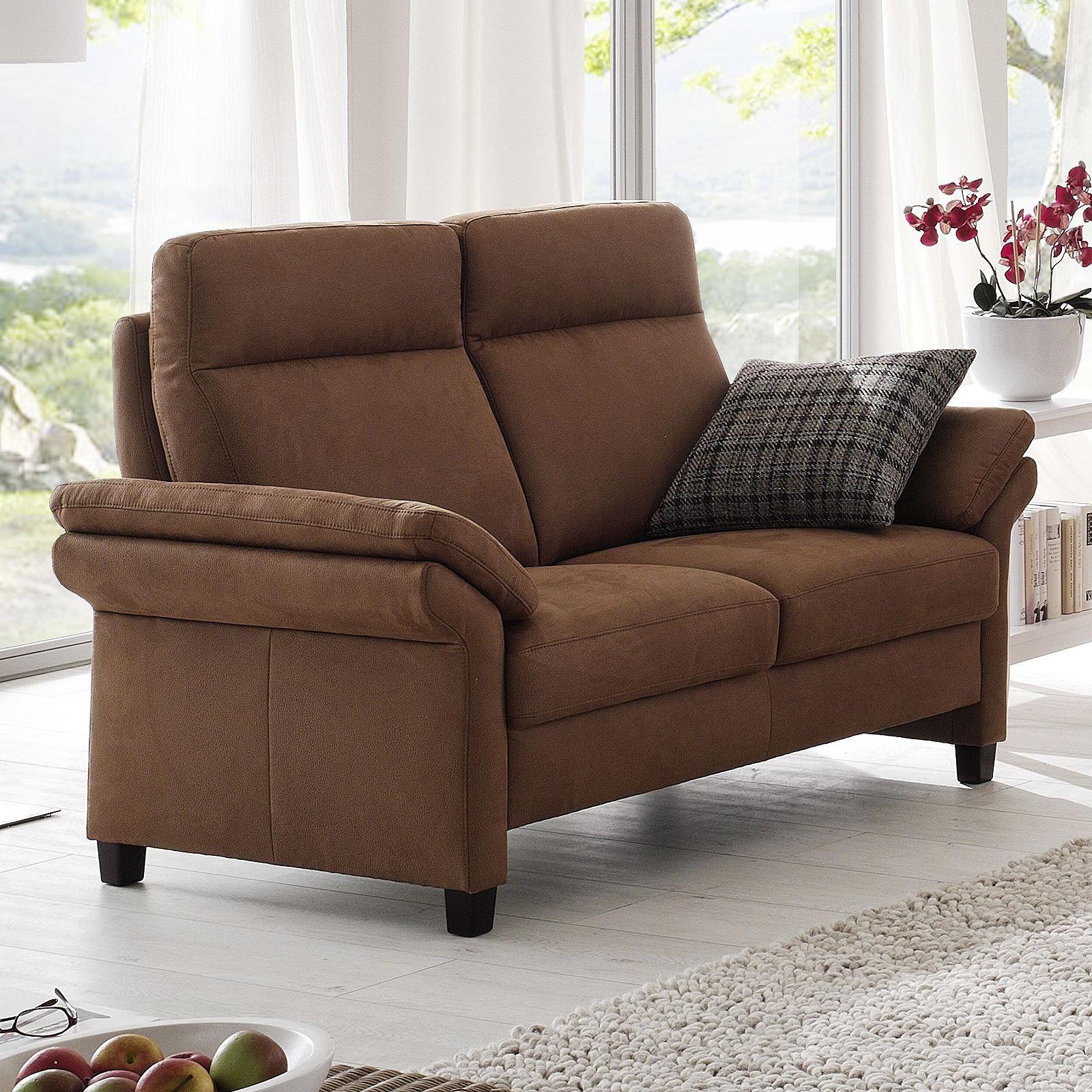 2 sitzer madeira 2er sofa polsterm bel in nougat braun inkl armlehnen 158 cm ebay. Black Bedroom Furniture Sets. Home Design Ideas