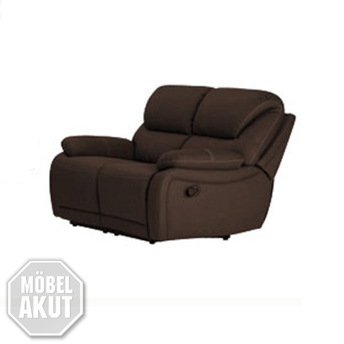 2er sofa berano polsterm bel in braun wei mit relaxfunktion neu ebay. Black Bedroom Furniture Sets. Home Design Ideas