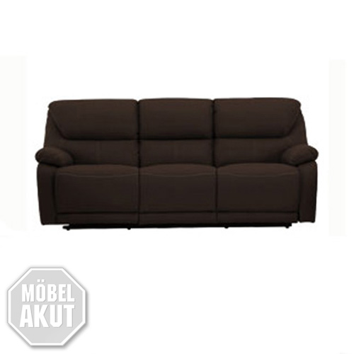 3er sofa berano polsterm bel in braun wei mit relaxfunktion neu ebay. Black Bedroom Furniture Sets. Home Design Ideas